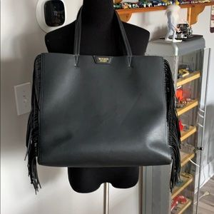 🎄Victoria's Secret Black Fringe Carry Bag